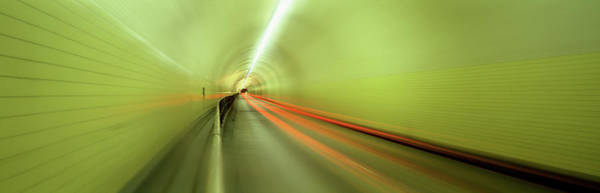 Wall Art - Photograph - Light Trails At City Road Tunnel by Panoramic Images