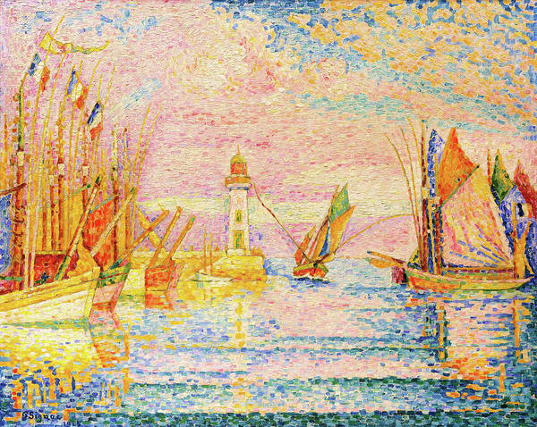 Wall Art - Painting - Lighthouse At Groix - Digital Remastered Edition by Paul Signac
