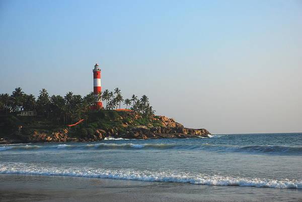 Kerala Photograph - Lighthouse At Kovalam Beach, Kerala by Aditi Das Patnaik