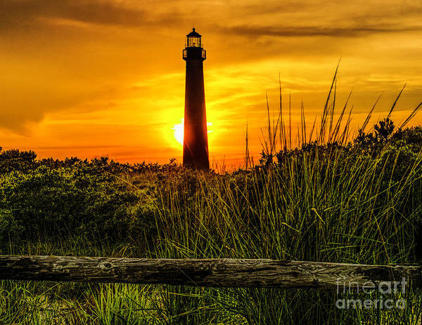 Photograph - Lighthouse At Sunset by Nick Zelinsky