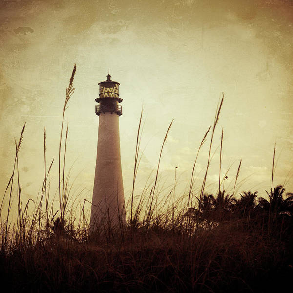 Old Florida Photograph - Lighthouse At Sunset by Thepalmer