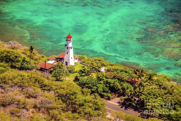 Photograph - Lighthouse At The Foot Of, Diamond Head Crater - Honolulu by D Davila