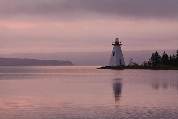 Wall Art - Photograph - Lighthouse, Baddeck, Cape Breton, Nova by David Henderson