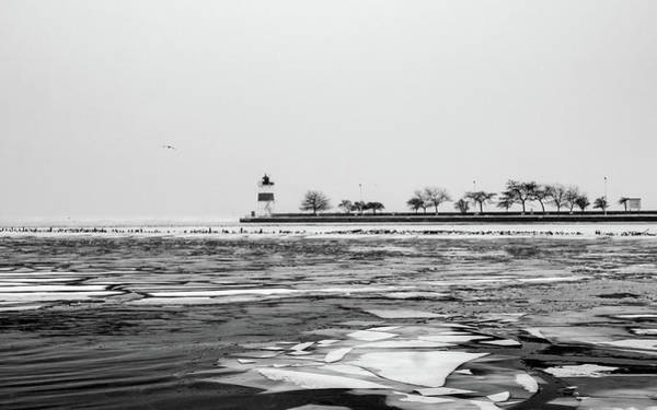 Photograph - Lighthouse Black And White by Framing Places