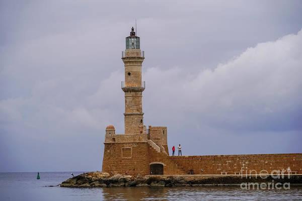 Wall Art - Photograph - Lighthouse, Chania, Crete, Greece K3 by Vladi Alon