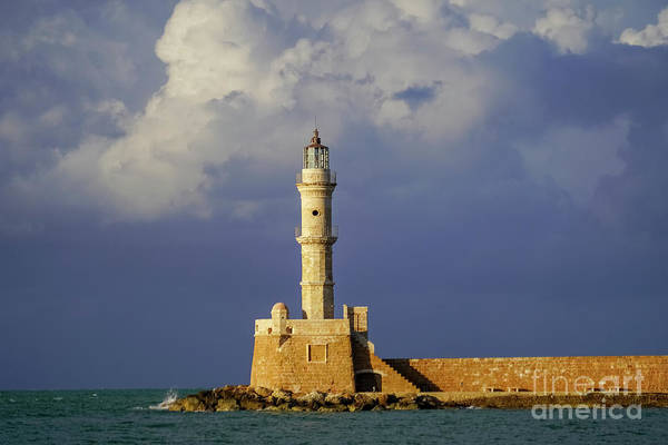 Wall Art - Photograph - Lighthouse, Chania, Crete, Greece K5 by Vladi Alon