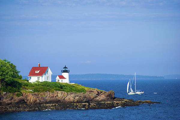 Camden Photograph - Lighthouse In Camden, Maine With by Gregobagel