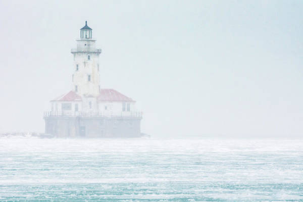 Photograph - Lighthouse In The Mist by Framing Places