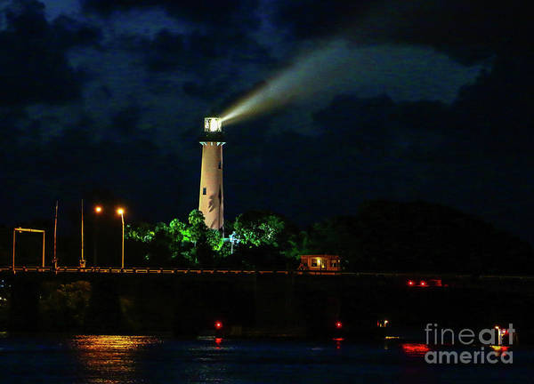 Art Print featuring the photograph Lighthouse Lightbeam by Tom Claud