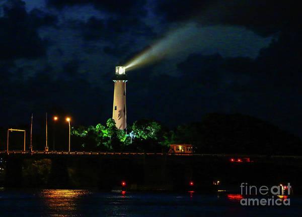 Photograph - Lighthouse Lightbeam by Tom Claud