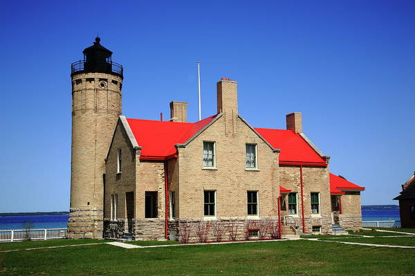 Photograph - Lighthouse - Mackinac Point Michigan 3 by Frank Romeo