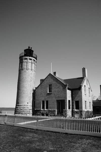 Photograph - Lighthouse - Mackinac Point Michigan 5 Bw by Frank Romeo
