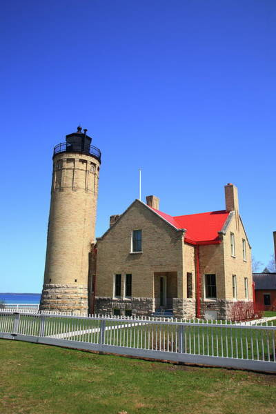 Photograph - Lighthouse - Mackinac Point Michigan 5 by Frank Romeo
