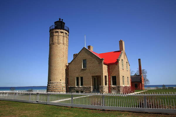 Photograph - Lighthouse - Mackinac Point Michigan by Frank Romeo