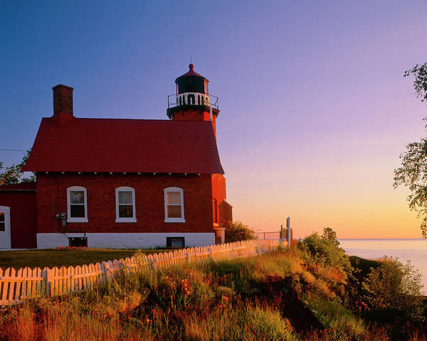 Lake Superior Photograph - Lighthouse by Mark Miller Photos