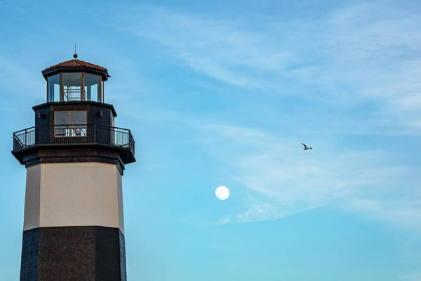 Photograph - Lighthouse Moon by Ree Reid