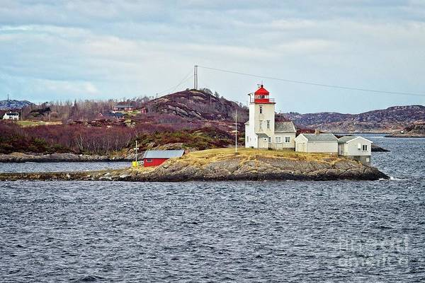 Photograph - Tyrhaug Fyr Lighthouse Near Kristiansund Norway by Martyn Arnold