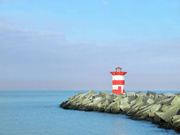 Dock Of The Bay Photograph - Lighthouse On A Jetty by Focus on nature