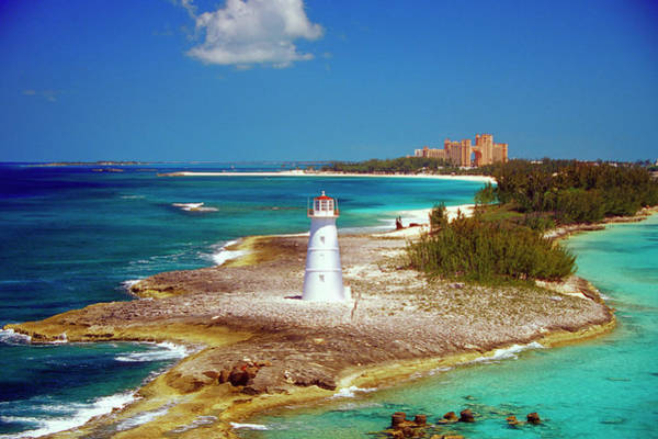 Caribbean Photograph - Lighthouse On Paradise Island-nassau by Medioimages/photodisc