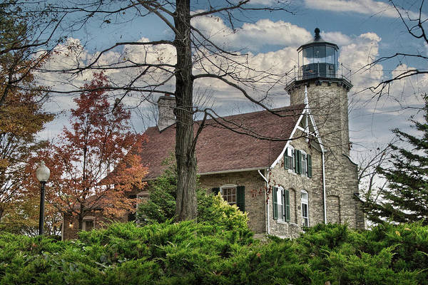 Photograph - Lighthouse On White River By Whitehall Michigan by Randall Nyhof