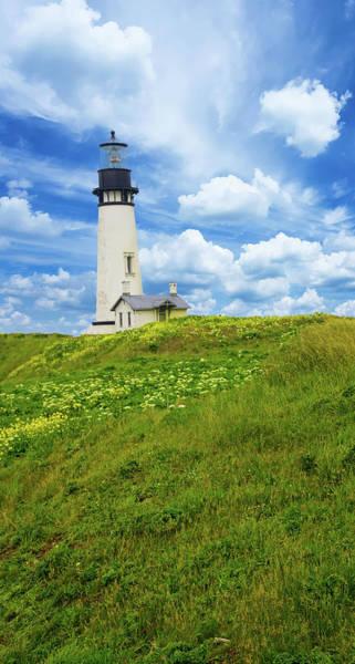 Photograph - Lighthouse On  Yaquina Head  by Steve Estvanik