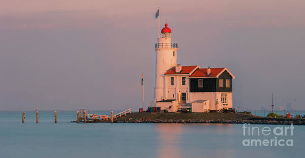 Noord Holland Wall Art - Photograph - Lighthouse - Paard Van Marken - Netherlands by Henk Meijer Photography