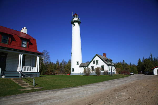 Photograph - Lighthouse - Presque Isle Michigan 2 by Frank Romeo