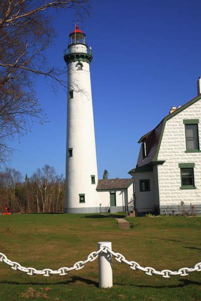 Photograph - Lighthouse - Presque Isle Michigan 4 by Frank Romeo