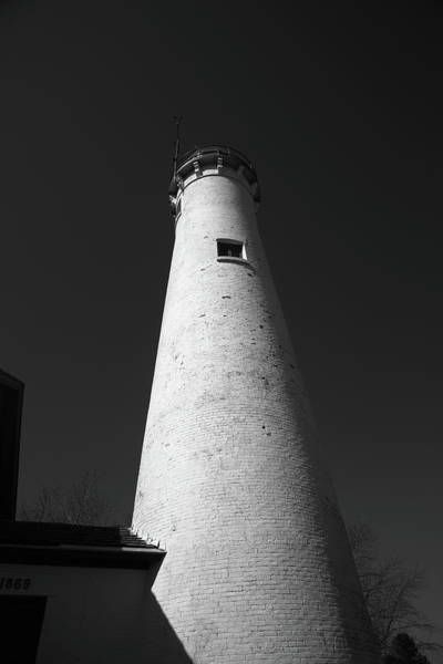 Photograph - Lighthouse - Sturgeon Point Michigan 4 Bw by Frank Romeo