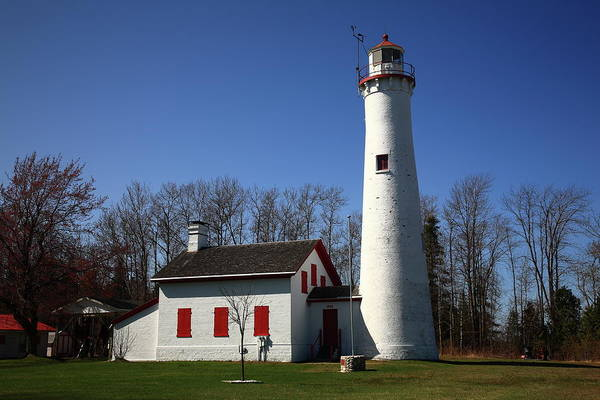 Photograph - Lighthouse - Sturgeon Point Michigan by Frank Romeo