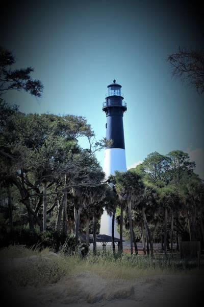 Hunting Island Lighthouse Wall Art - Photograph - Lighthouse Vignette by Carol McGrath