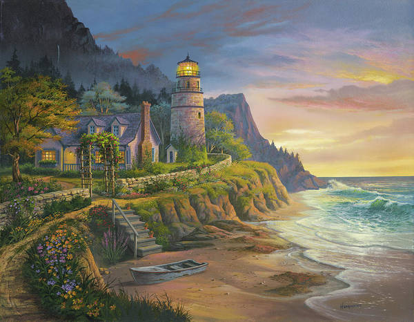 Lighthouse Painting - Lighting The Way by Michael Humphries