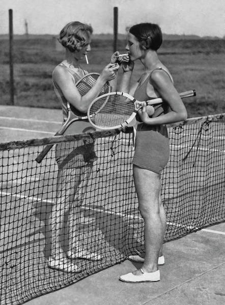 Adults Only Photograph - Lighting Up After A Tennis Match by Fpg