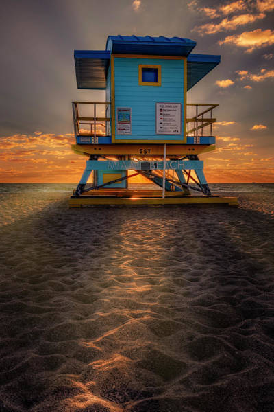 Photograph - Lighting Up Miami Beach by Michael Ash