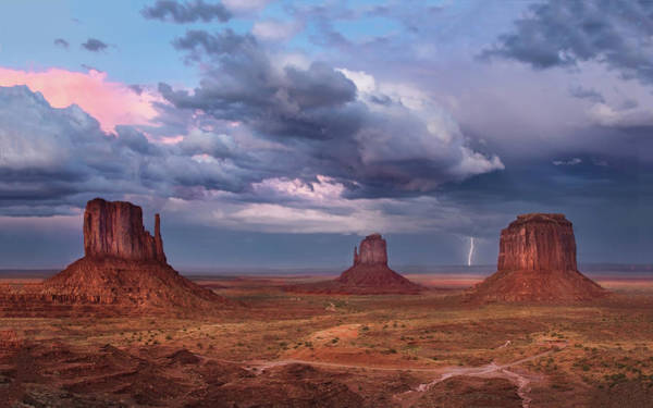Photograph - Lightning Across The Valley    by Harriet Feagin