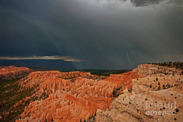 Photograph - Lightning And Thunderstorm Bryce Canyon National Park Utah by Dave Welling