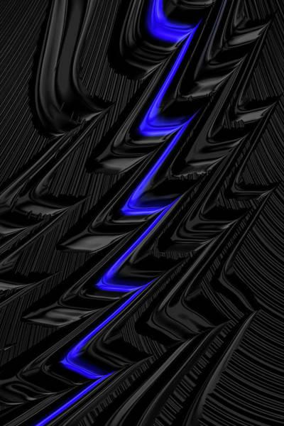 Digital Art - Lightning Blue by Steve Purnell