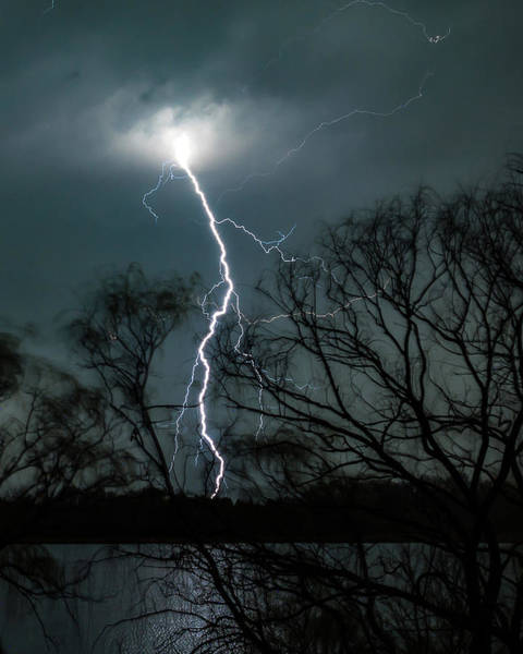 Photograph - Lightning Bolt Over Little Sugarloaf by William Christiansen
