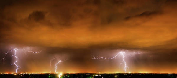 Photograph - Lightning Drama by Leland D Howard