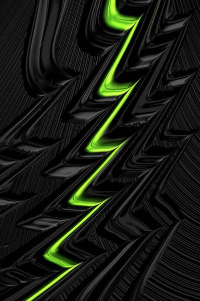 Digital Art - Lightning Green by Steve Purnell