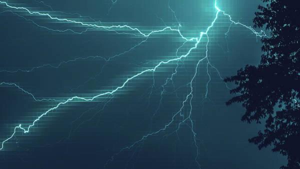 Lightning Grid Art Print