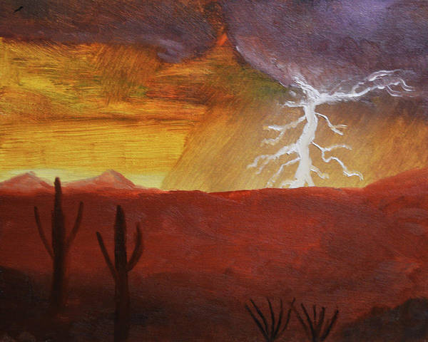 Painting - Lightning Of The Arizona Monsoon  by Chance Kafka