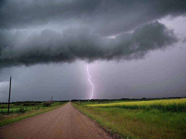 Photograph - Lightning On The Way Home by Dan Jurak