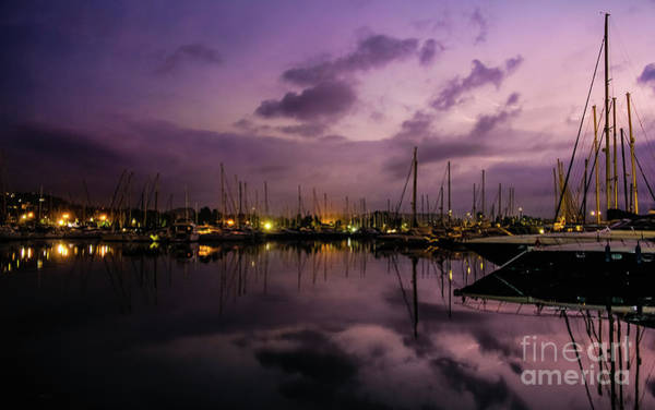 Photograph - Lightning Over Marina Gouvia, Corfu by Lyl Dil Creations