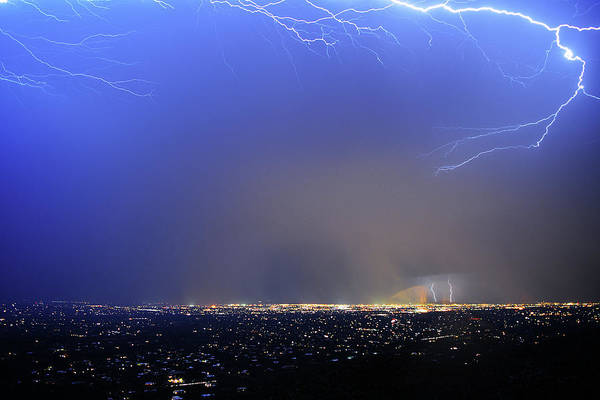 Photograph - Lightning Over Tucson by Chance Kafka
