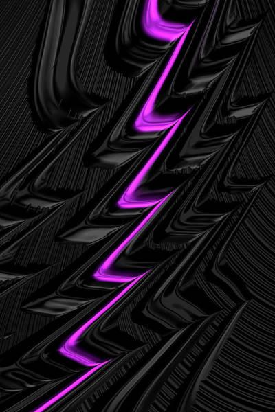 Digital Art - Lightning Pink by Steve Purnell