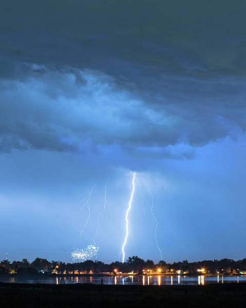 Photograph - Lightning Raining Down With Some Firework Sprinkles by James BO Insogna