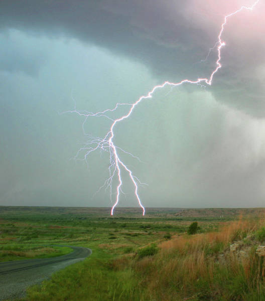 Jason Day Photograph - Lightning Strike In Rural Landscape by Cultura Rm Exclusive/jason Persoff Stormdoctor