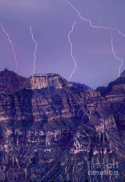 Photograph - Lightning Strikes North Rim Grand Canyon National Park Arizon by Dave Welling