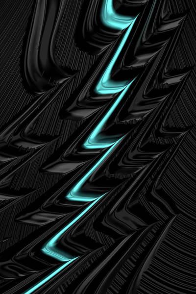 Digital Art - Lightning Teal by Steve Purnell